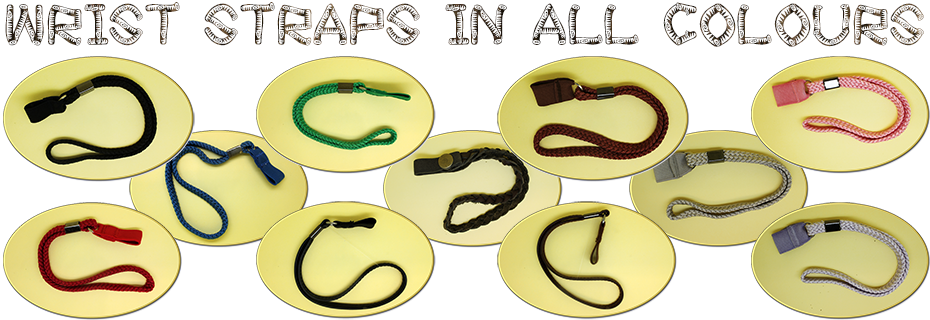 Walking stick wrist straps in a huge choice of colours and styles